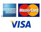 We Proudly Accept American Express, Mater Card, and Visa