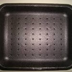MEAT TRAY 11.9″X9.9″X1.2″  BLACK FOAM  TFB009H