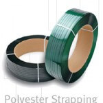 *ON SALE $114.00/ROLL* POLYESTER STRAPPING 3/4″X2700′ GREEN 16″X6″ CORE P3450WMG027B4