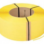 *ON SALE $45.00/COIL* POLYPROPYLENE STRAPPING 5MMX.017X24000′  YELLOW 8″X8″ CORE  24/SKID M051EDW240S8