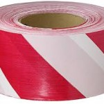 *ON SALE $100.00/CS* SAFETY TAPE 3″X36YDS RED/WHITE VINYL SST736